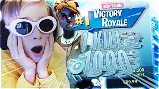 GURKIS GETS 1000 V-BUCKS FOR EACH KILL IN FORTNITE!!!