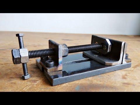 Make A Metal Mini Drill Vise Diy Homemade Tool Youtube