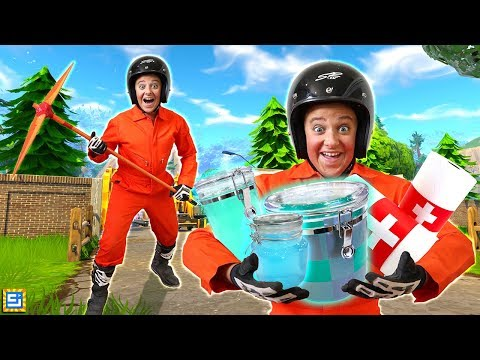 Rare Fortnite Items and Victory Royale Costume in Real Life Challenge!!