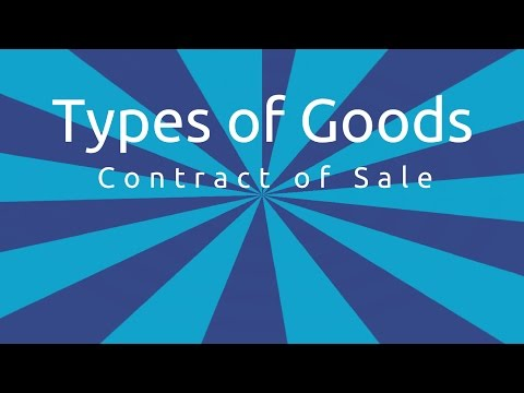 Types of Goods   Formation of the Contract of Sale   CA CPT   CS & CMA Foundation