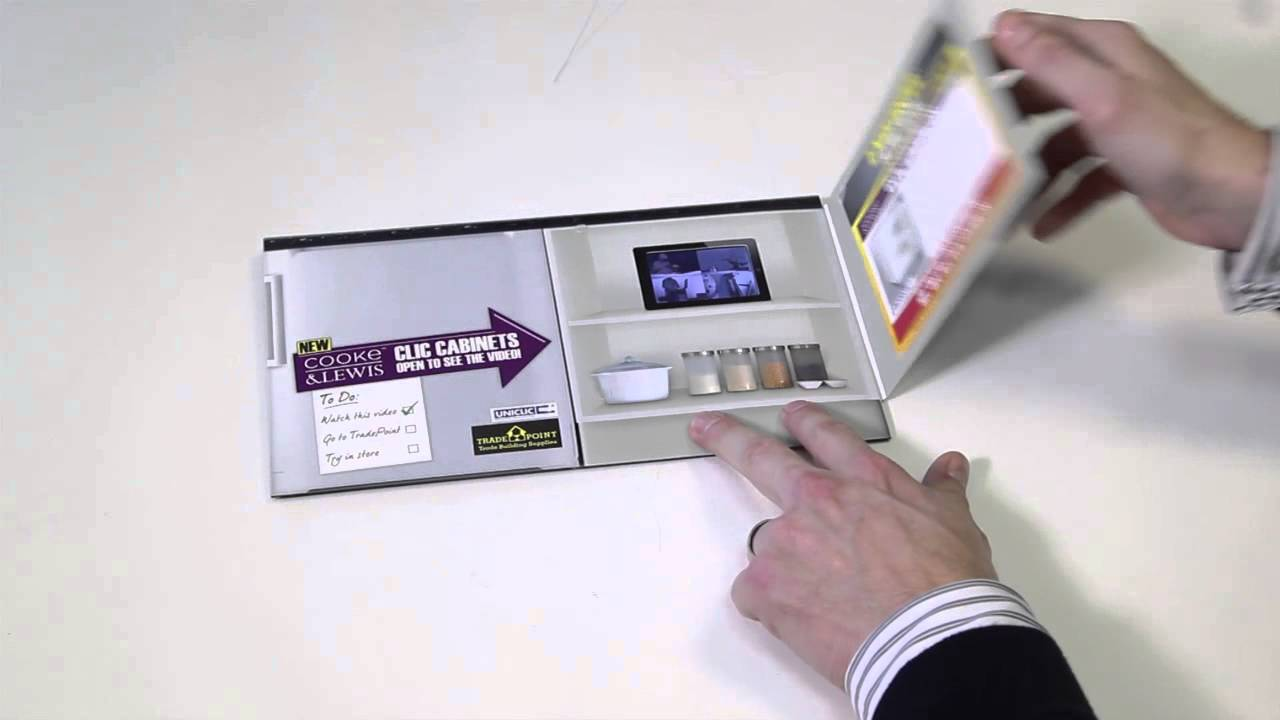 VideoPak - B&Q ultra slim video brochure for direct mail - YouTube