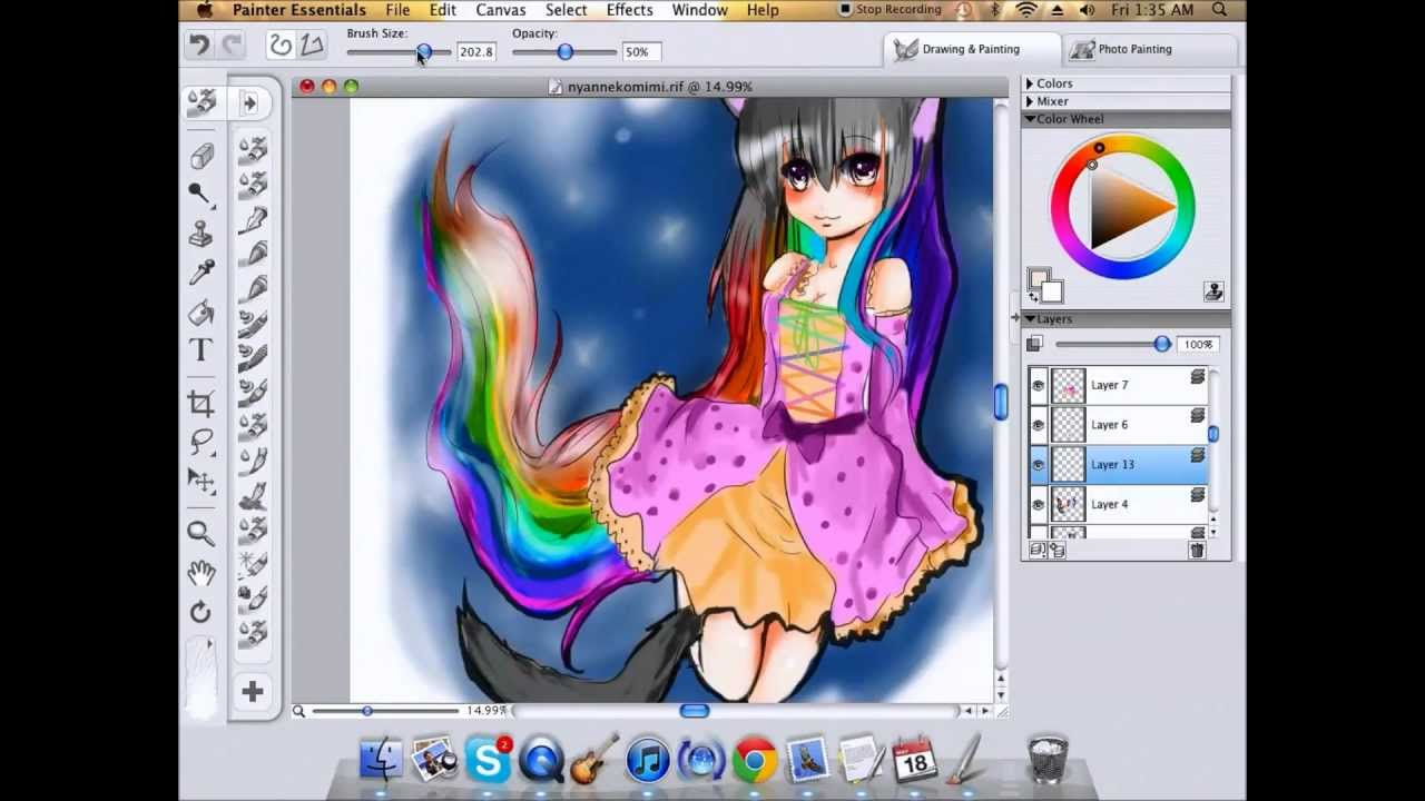 nyancat corel painter essentials 4 speed paint youtube. Black Bedroom Furniture Sets. Home Design Ideas