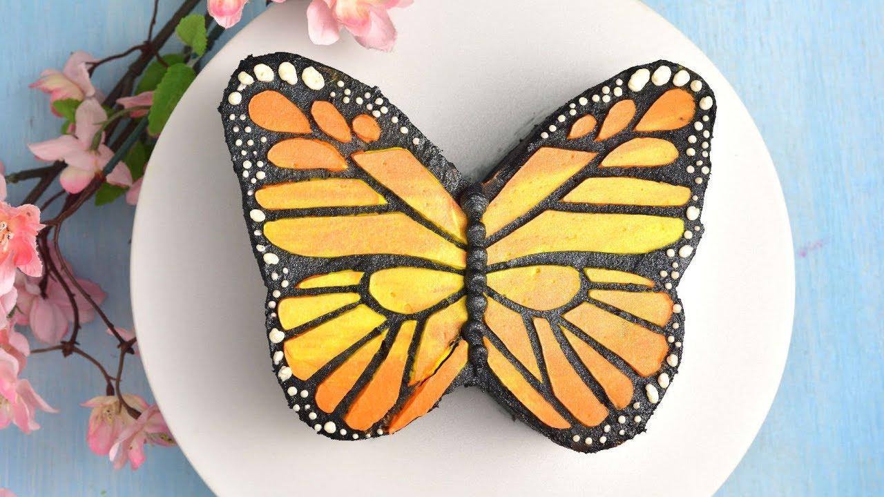 Buttercream Butterfly Cake By Haniela S Youtube