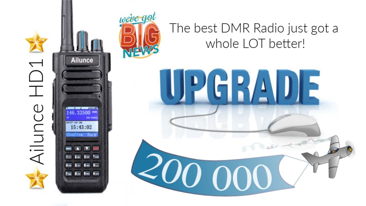 Ailunce HD1 Exciting news! The best DMR radio just got a whole lot better!  Retevis!