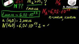 моль - единица количества вещества.avi