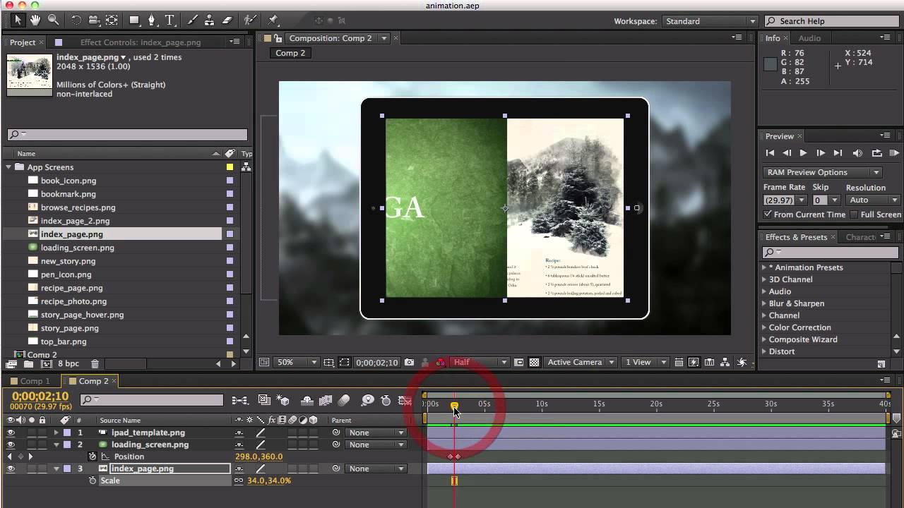Quick Tip: Creating an App Walkthrough in After Effects