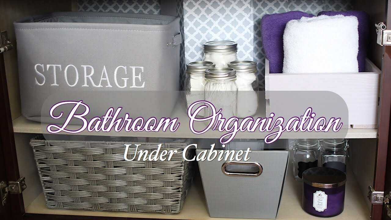 Under Bathroom Sink Organization   DIY