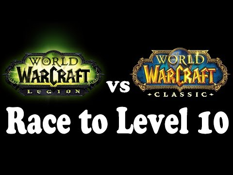 Current WoW vs Classic WoW: Race to Level 10 (via Questing) !!