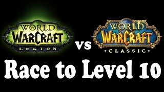 Current WoW vs Classic WoW: Race to Level 10 (via Questing) !! thumbnail