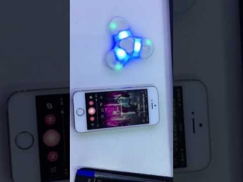 Dynamic led fidget spinner with Bluetooth speaker with msds certification