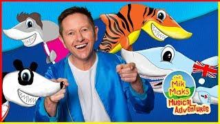 Baby Shark | Kids Songs and Nursery Rhymes | Animal Songs | The Mik Maks Songs for Children