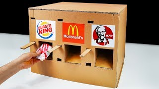 DIY How to Make KFC McDonald\'s and Burger King Vending Machine