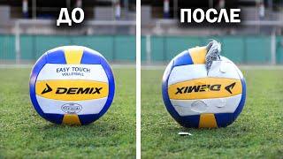 Вот почему волейбольным мячом НЕЛЬЗЯ играть ногами