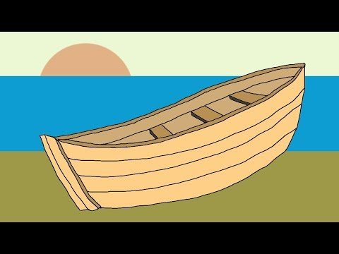 How To Draw A Boat Step By Step. Wooden Fishing Boat Drawing
