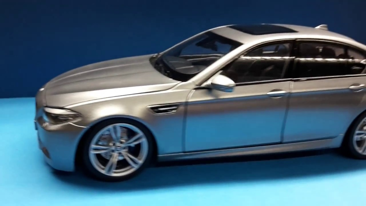 bmw 1 18 f10 m5 frozen grey custom made by bmw diecast tuning youtube. Black Bedroom Furniture Sets. Home Design Ideas