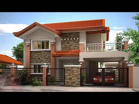 Cute Double Floor House 1300 Sft For 13 Lakh Elevation