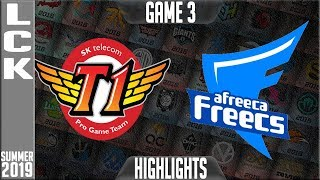 SKT vs AF Highlights Game 3 | LCK Summer 2019 Week 1 Day 5 | SK Telecom T1 vs Afreeca Freecs