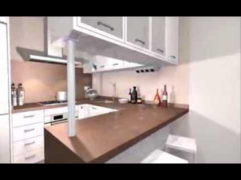 Dise o cl sico para una cocina para apartamento de playa for Muebles de cocina departamento