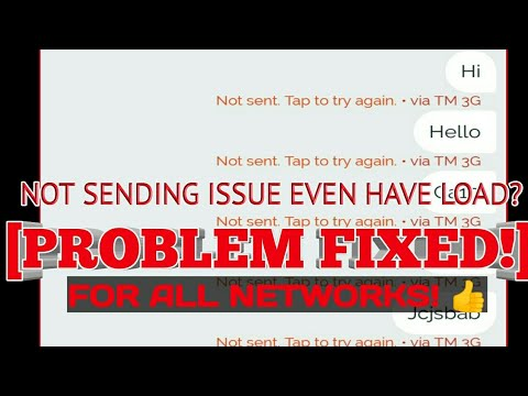 [FIX/SOLVED] NOT SENDING EVEN WITH LOAD (SMSC PROBLEM) ALL NETWORK | TheProfTechTV