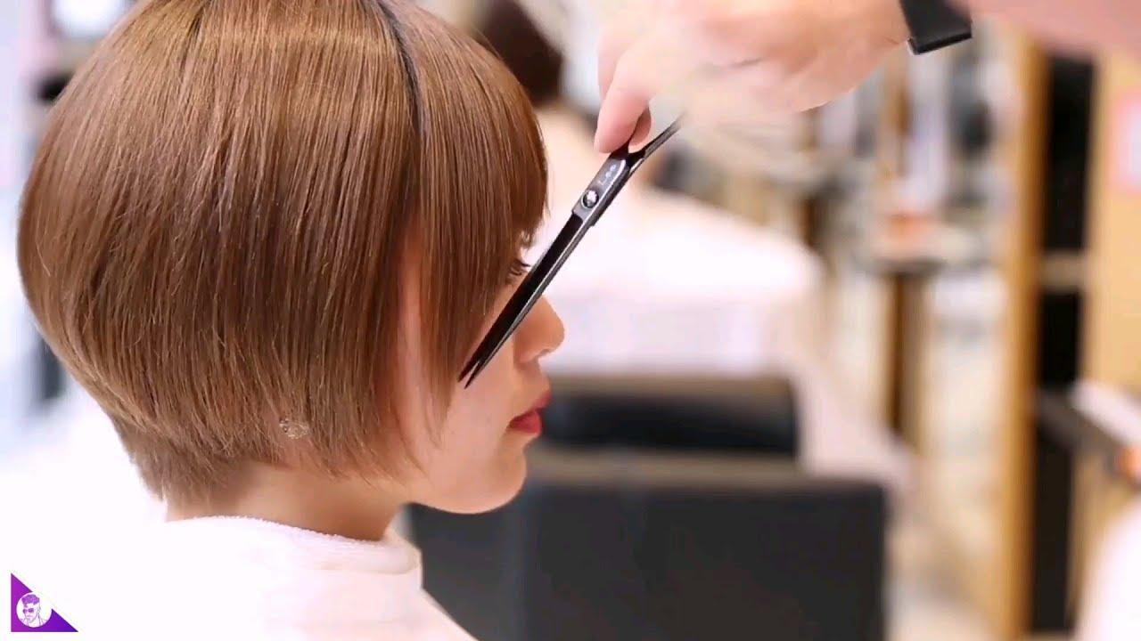 Top 4 Dáng Tóc Ngắn Nữ Tomboy Cho Gương Mặt Châu Á || Tóc Ngắn Nữ  Châu Á