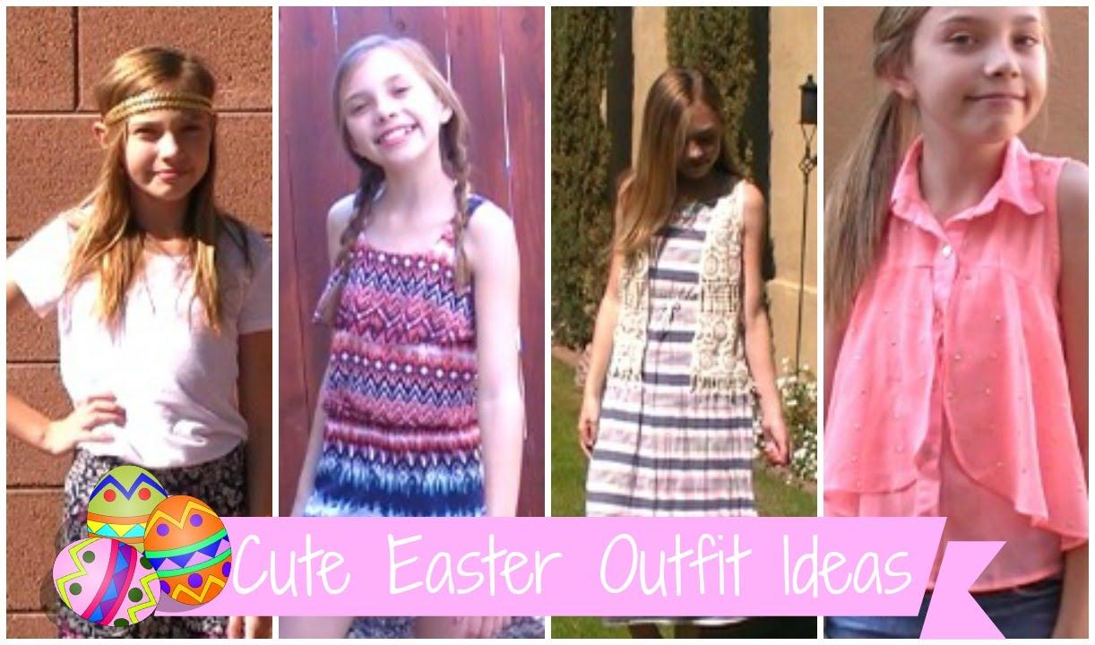 4 cute easter outfit ideas sasha morga youtube negle Image collections