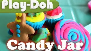Play Doh Candy Jar Hasbro Candy Lollipop Cupcake Play-Doh
