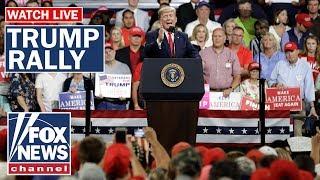 Trump hosts campaign rally in Cincinnati, Ohio