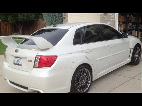 2013 White Subaru Sti Limited Sedan Youtube