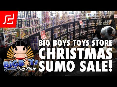 BIG BOYS TOY STORE CHRISTMAS SUMO SALE + HAUL