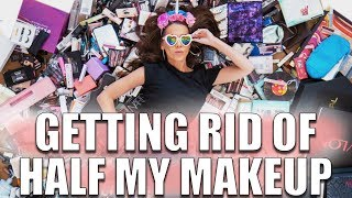 GETTING RID OF HALF MY MAKEUP