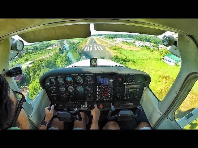 Cessna 172P   Approach and Long Landing   Plaridel Airport