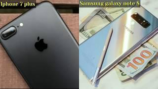 Samsung Galaxy Note 8 vs iPhone 7 Plus comparaison