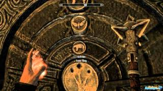 Skyrim Bleak Falls Barrow how to solve puzzle with Butterfly, Bear, and Owl