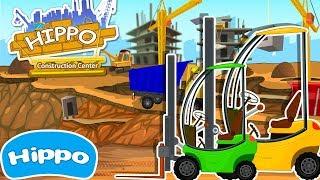 Гиппо 🌼 Строительные машины 🌼 Строительный супермаркет и автопогрузчик 🌼 Мультик игра для детей
