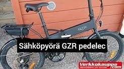 """GZR Pedelec Plus Verkkokauppa.com edullinen sähköpyörä taittuvalla rungolla, 20"""""""