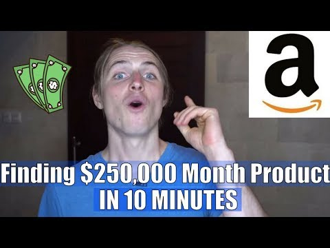NEWEST Amazon FBA Product Research Technique That Found Me A $250,000/Month Product In 10 Minutes!