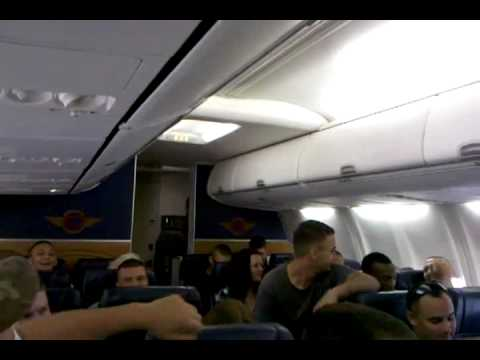 U.S. Marine (Matt Bussen) singing Michael Buble on an airplane!