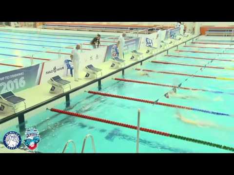 Mad Wave Challenge 2016. I этап. 100м на спине - юноши, заплыв 7