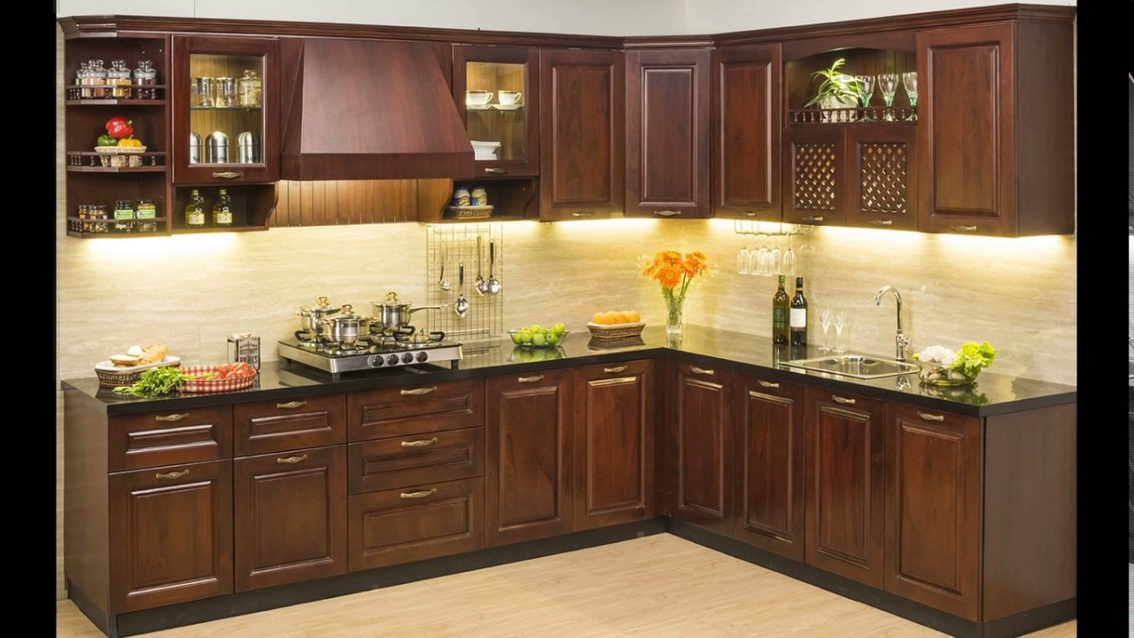 Small indian modular kitchen designs youtube for Indian style kitchen design