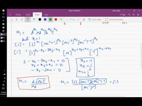finding dimensionless groups through Rayleigh analysis