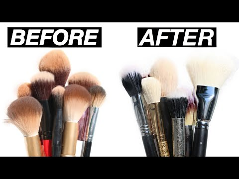 How to Clean Makeup Brushes | Eman