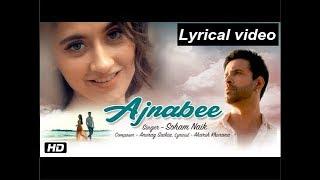 Full Lyrics video song: Ajnabee | Soham naik | Aamir ali | Sanjeeda sheik | Anurag saikia