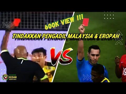 Tindakan pengadil Eropah dan pengadil Malaysia.