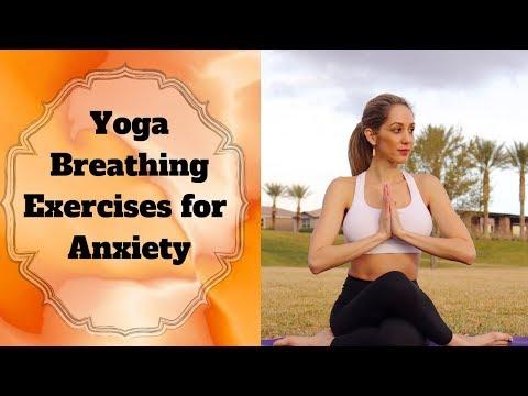 """""""Yoga Breathing Exercises for Anxiety (ujjayi pranayama)  """"Yogini Angelina"""" 🌟"""