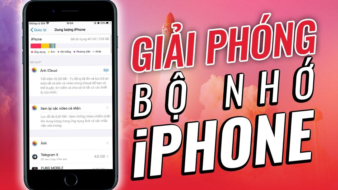7 Mẹo GIẢI PHÓNG bộ nhớ cho iPhone khi đã quá đầy | FREE UP iPhone Storage