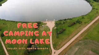 Free Camping at M๐on Lake in Valley City North Dakota.