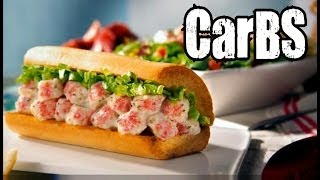 Carbs - Quiznos Lobster & Seafood Salad Sub