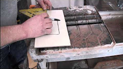 How to cut Porcelain Tile using a Wet Saw