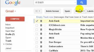 Repeat youtube video How to get deleted emails back in gmail
