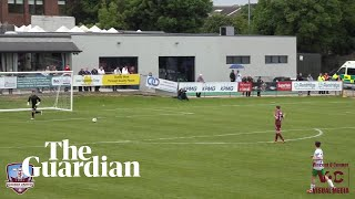 Goalkeeper falls foul of rules for bizarre League of Ireland goal thumbnail